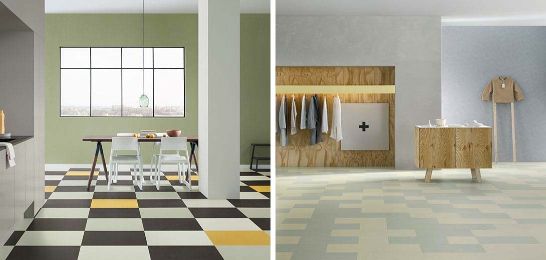 linoleum vloer tegels