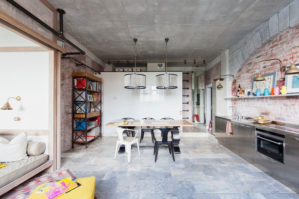 Loft appartement met interieurmix uit moskou inrichting for Loft appartement