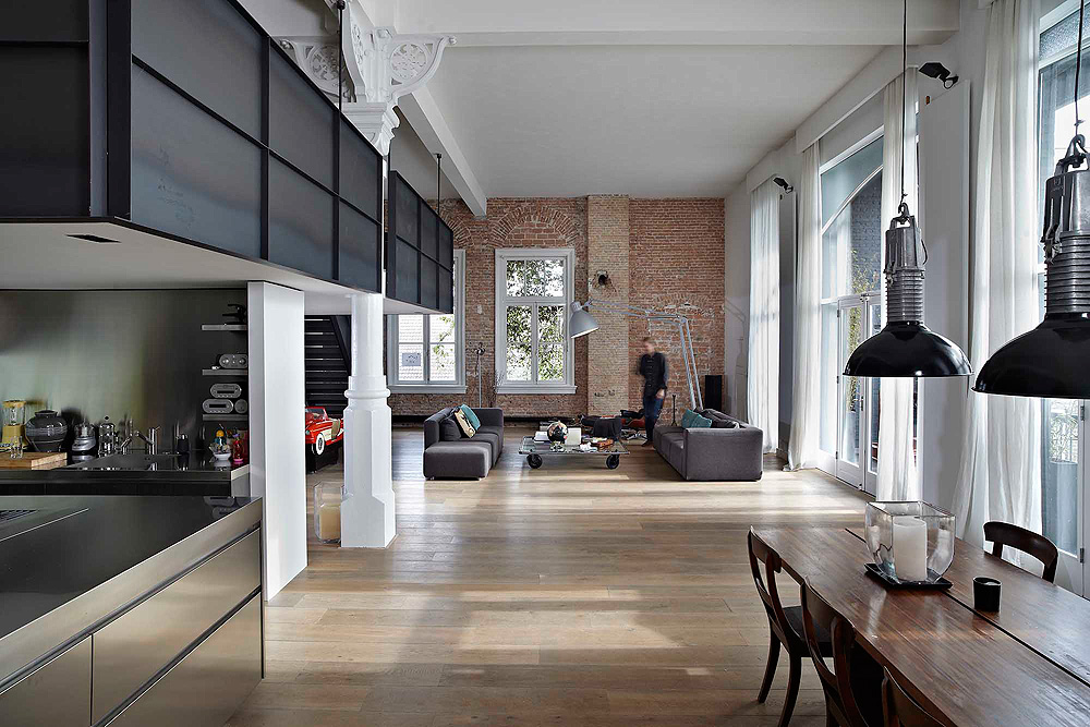Loft grachtenpand in amsterdam inrichting for Interieur stage amsterdam