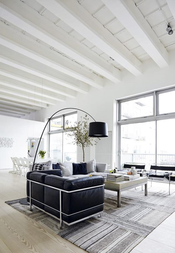 Londense loft met stijl inrichting for Loft interieur