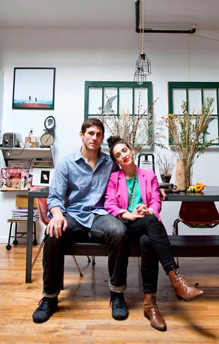 Loft woninginrichting van Rachel & Ben