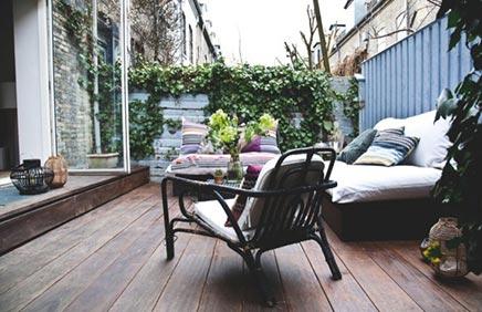 Lounge tuin van herenhuis
