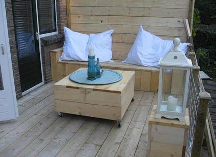 Lounge tuin aan Schieweg Rotterdam