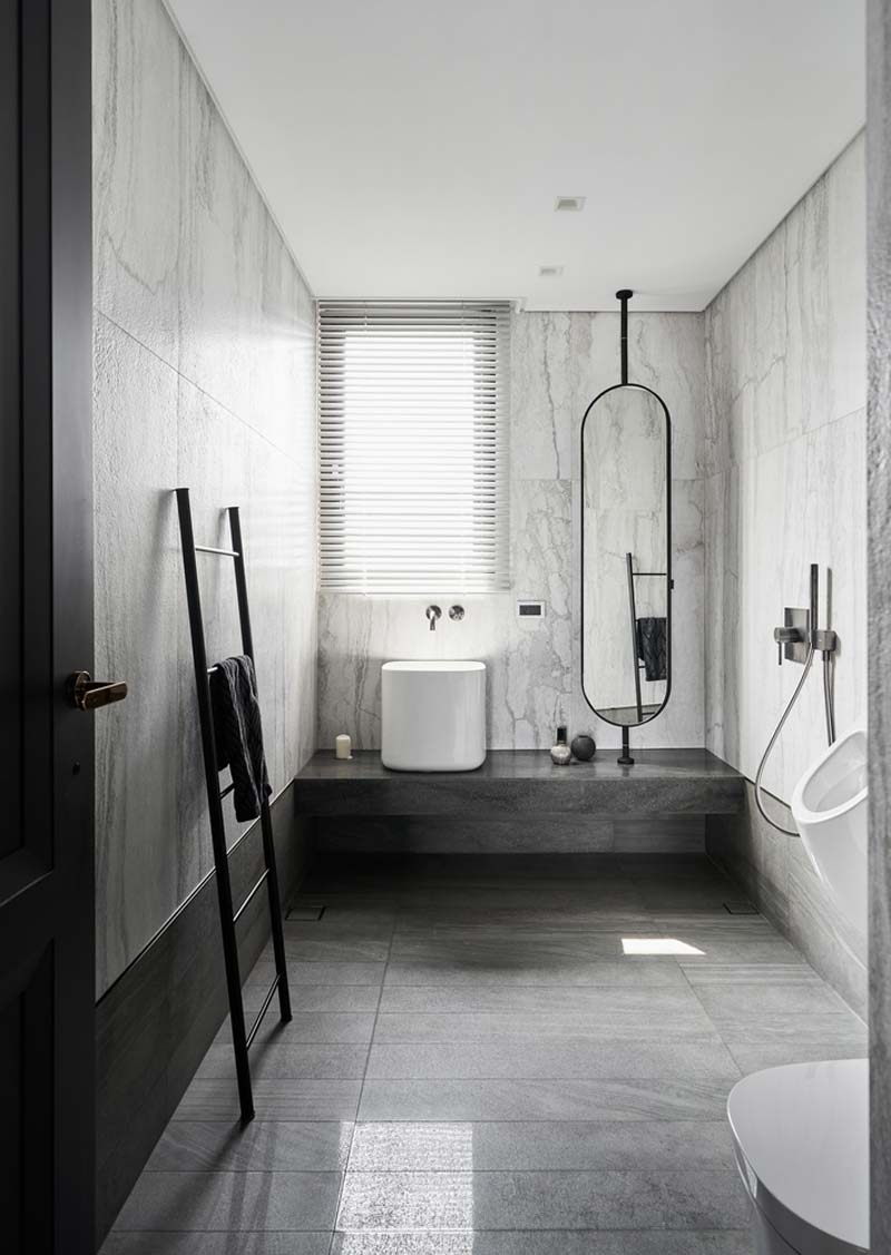 luxe badkamer marmer