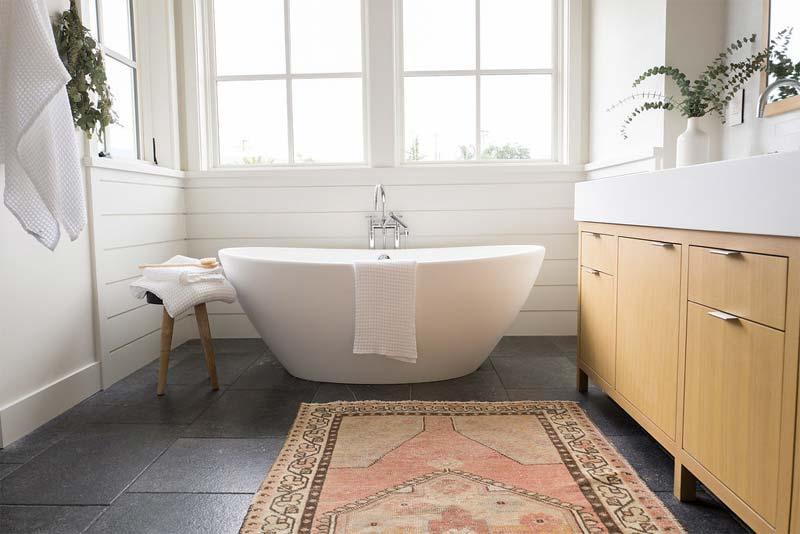 luxe badkamer woonboerderij vrijstaand bad