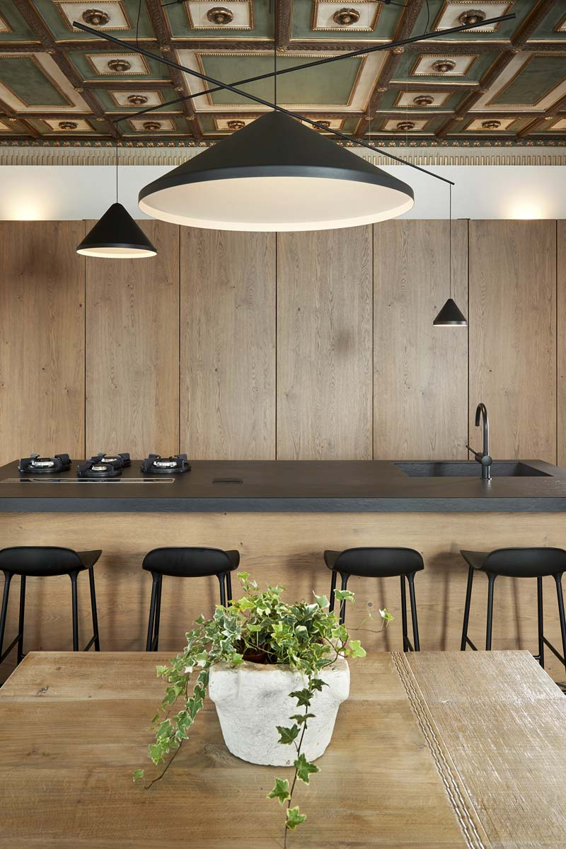 luxe houten keuken