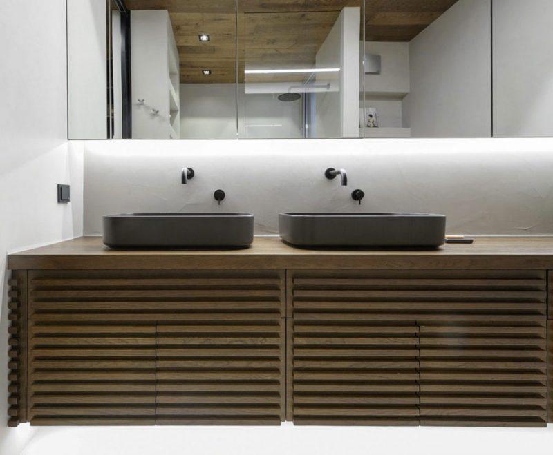 luxe moderne badkamer ensuite dubbele wastafels