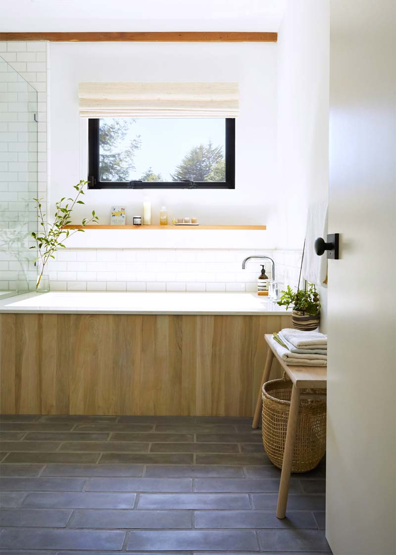 luxe rustieke spa badkamer