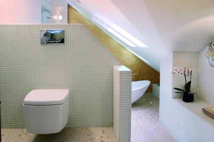 Luxueuze badkamer in hotel stijl inrichting - Badkamer onder het dak ...