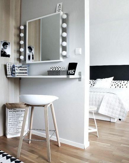 10x make up tafel inspiratie inrichting - Moderne witte kamer ...