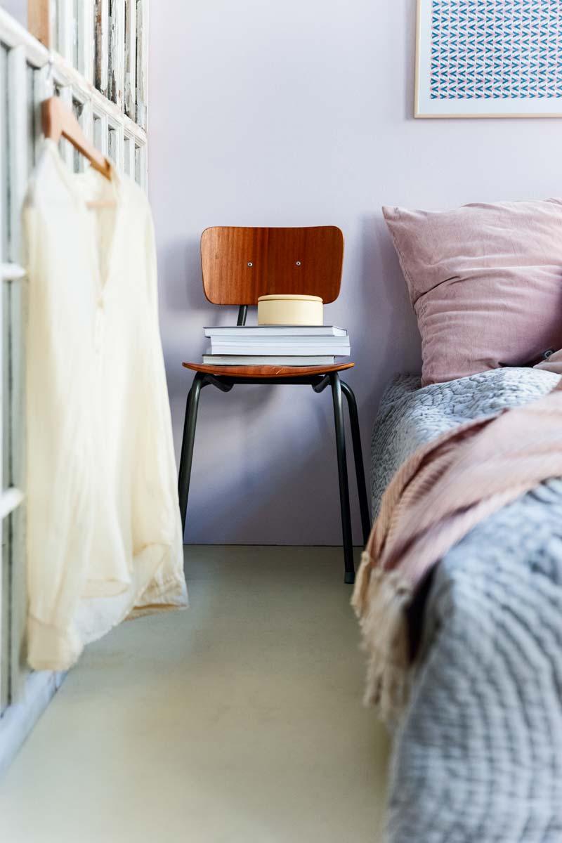 mamoleum vloer slaapkamer