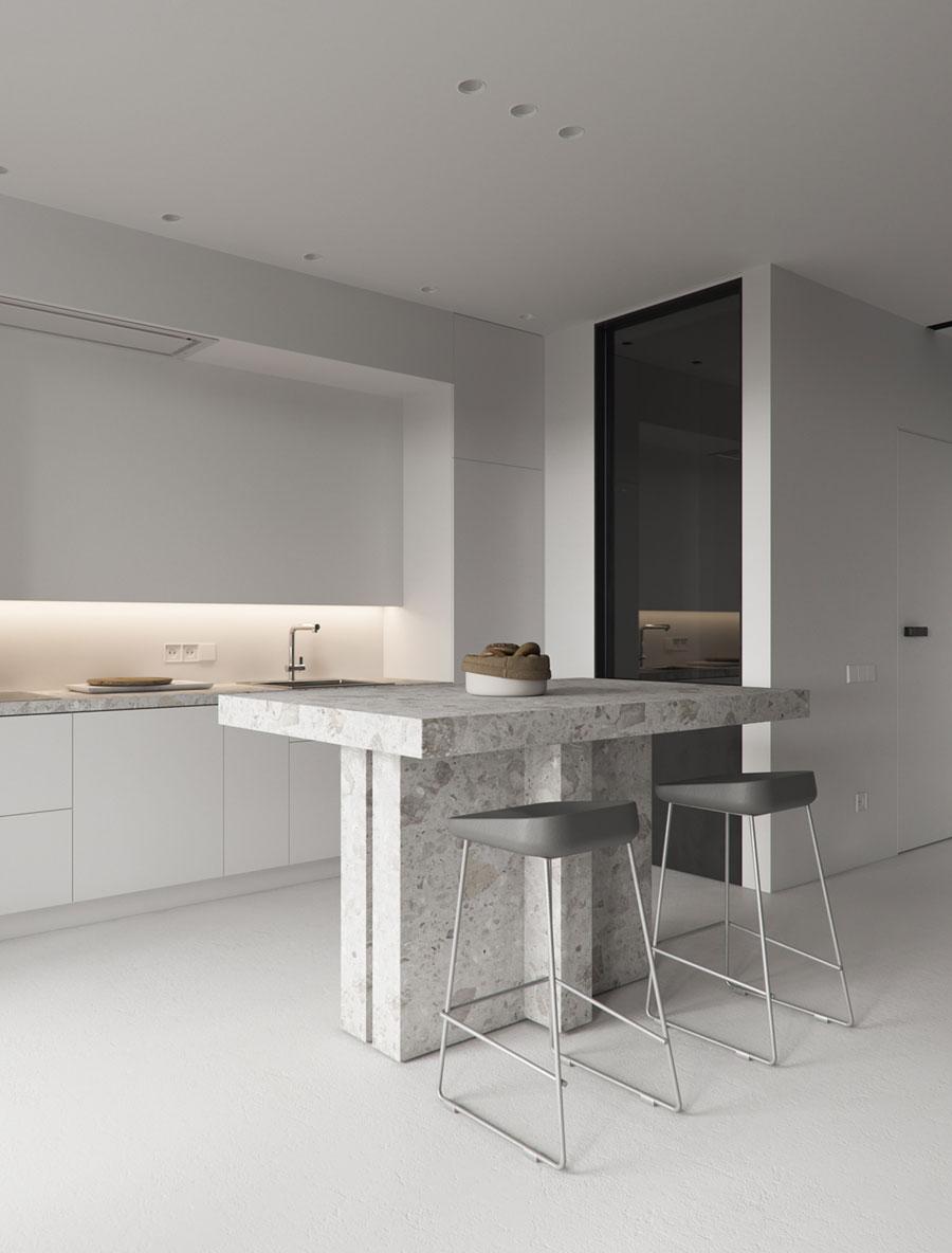 marmeren bartafel barkrukken open keuken