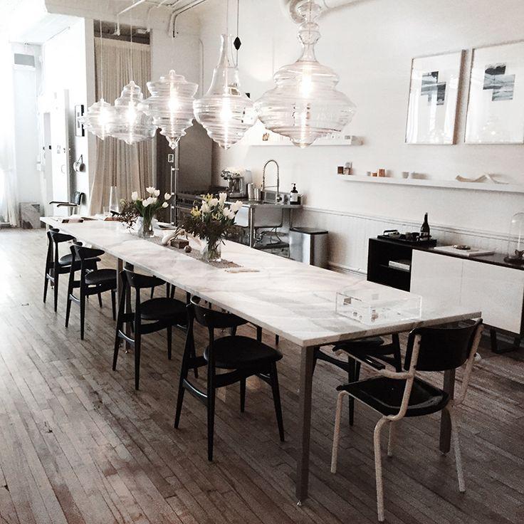 Marmeren eettafels