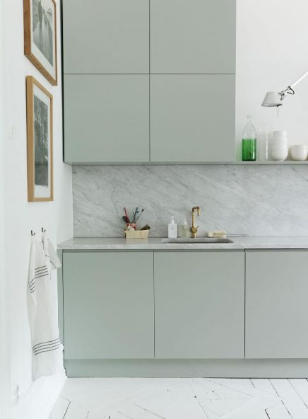 Marmeren keukenwand