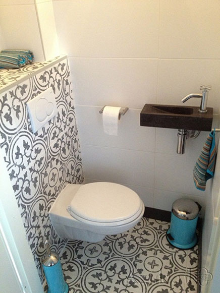 Marokkaanse tegels in toilet inrichting - Kleur idee ruimte zen bad ...