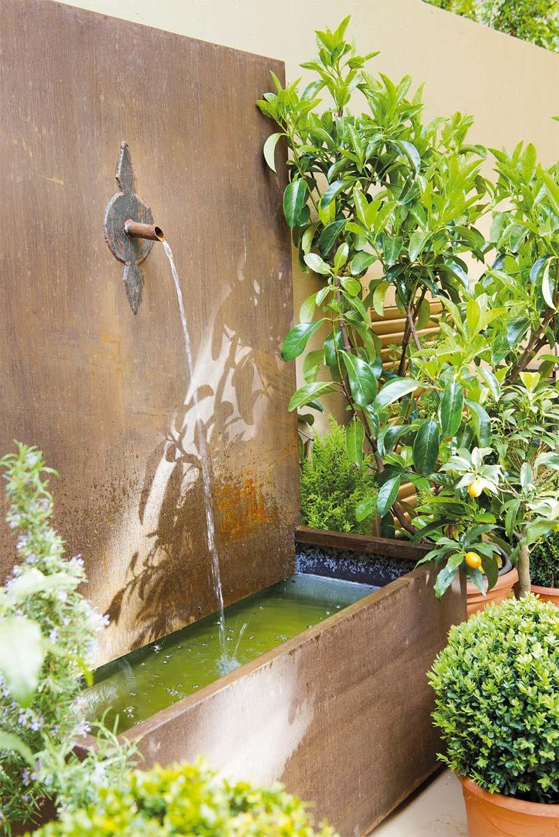 mediterrane tuin waterornament