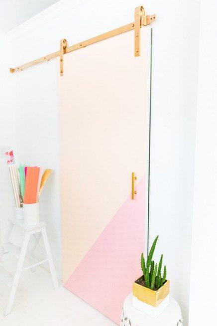 Meerkleurige deur