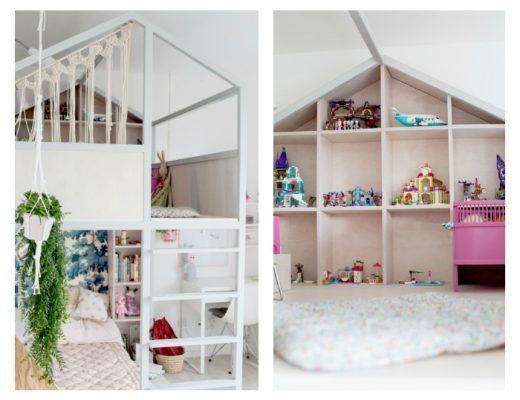 Meisjeskamer met hoogslaper en huisje van Fasinka