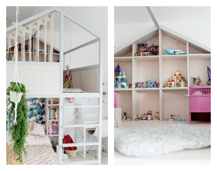 Meisjeskamer met hoogslaper en huisje van Fasinka   Inrichting huis com