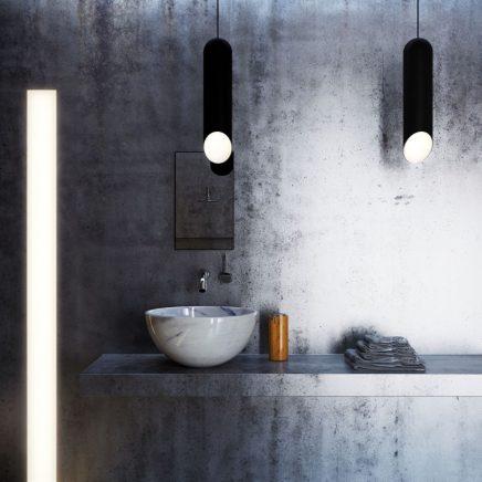 Minimalistische 3d badkamer ontwerpen