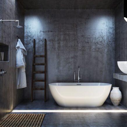 Minimalistische 3d badkamer ontwerpen inrichting for 3d interieur ontwerpen