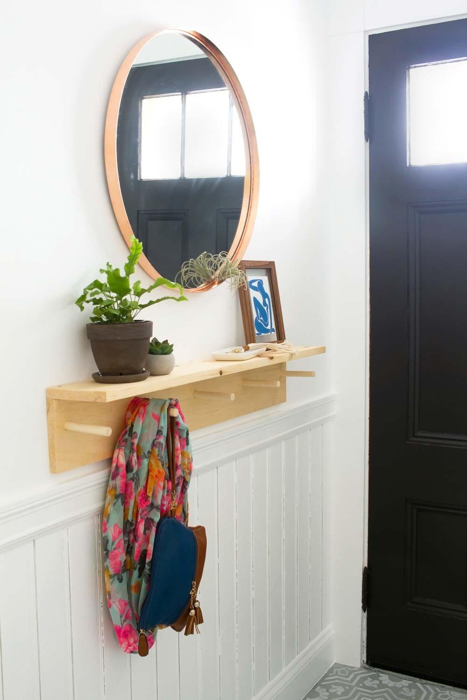 Minimalistische houten kapstok