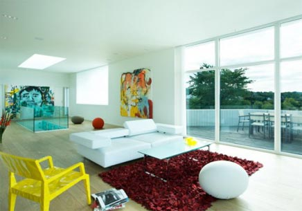 Minimalistische inrichting van Villa G
