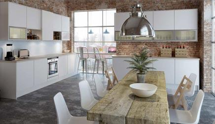 Witte Minimalistische Woonkeuken : Minimalistische keuken van norema inrichting huis