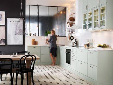 Mint groene keuken inrichting huis