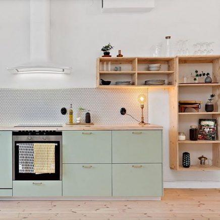 Mint groene keuken