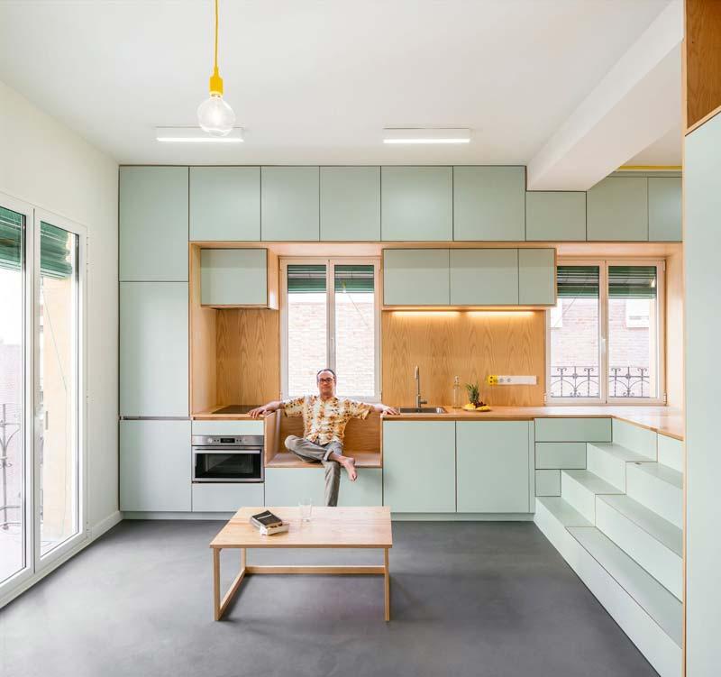 mintgroene keuken