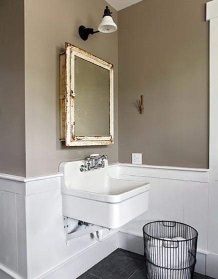 Mix van oud en nieuw in badkamer