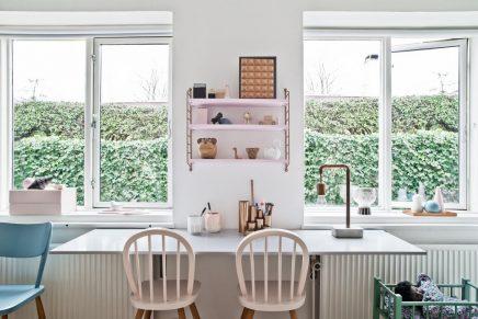 Mix van retro en scandinavische meubels in de kinderkamer van 6