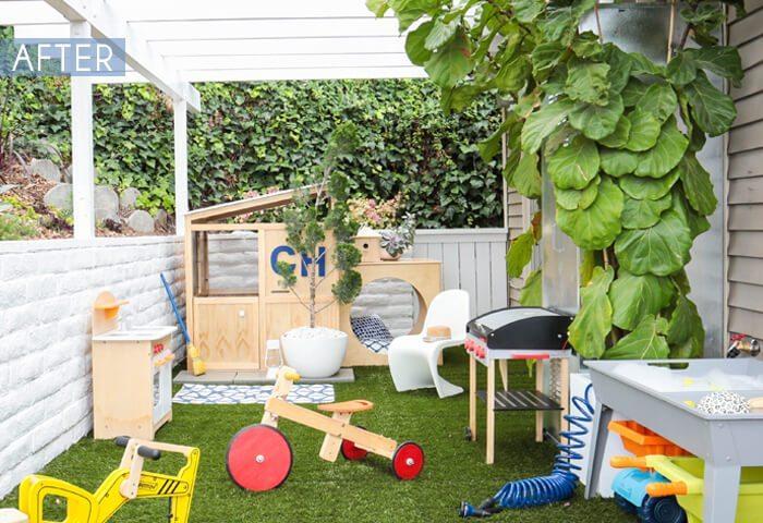 Modern kindvriendelijk tuinontwerp