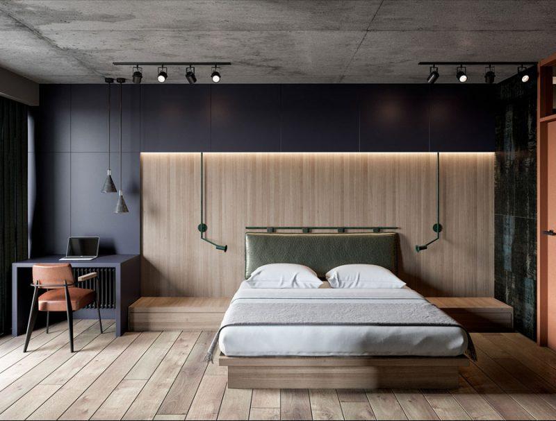 Modern stoer ontwerp voor een klein appartement van 52m2