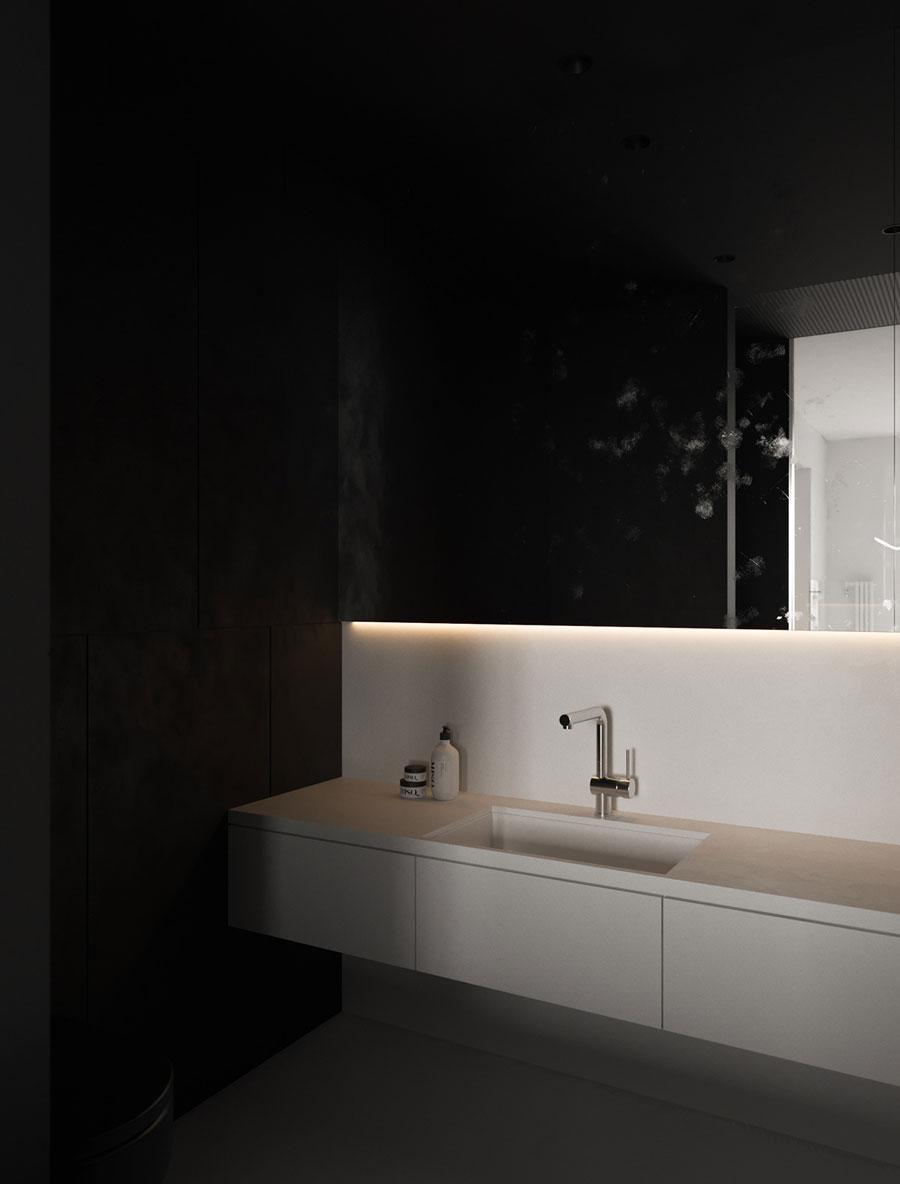 moderne badkamer witte badkamermeubel