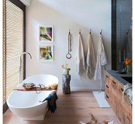 Moderne industriele badkamer strandhuis