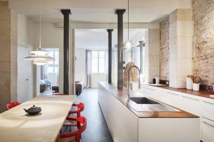 Moderne industriële loft in Parijs