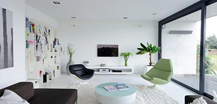 Moderne interieur inrichting royale design villa in breda for Interieur moderne woning