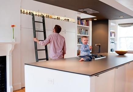 Moderne keuken met moderne opbergmogelijkheden