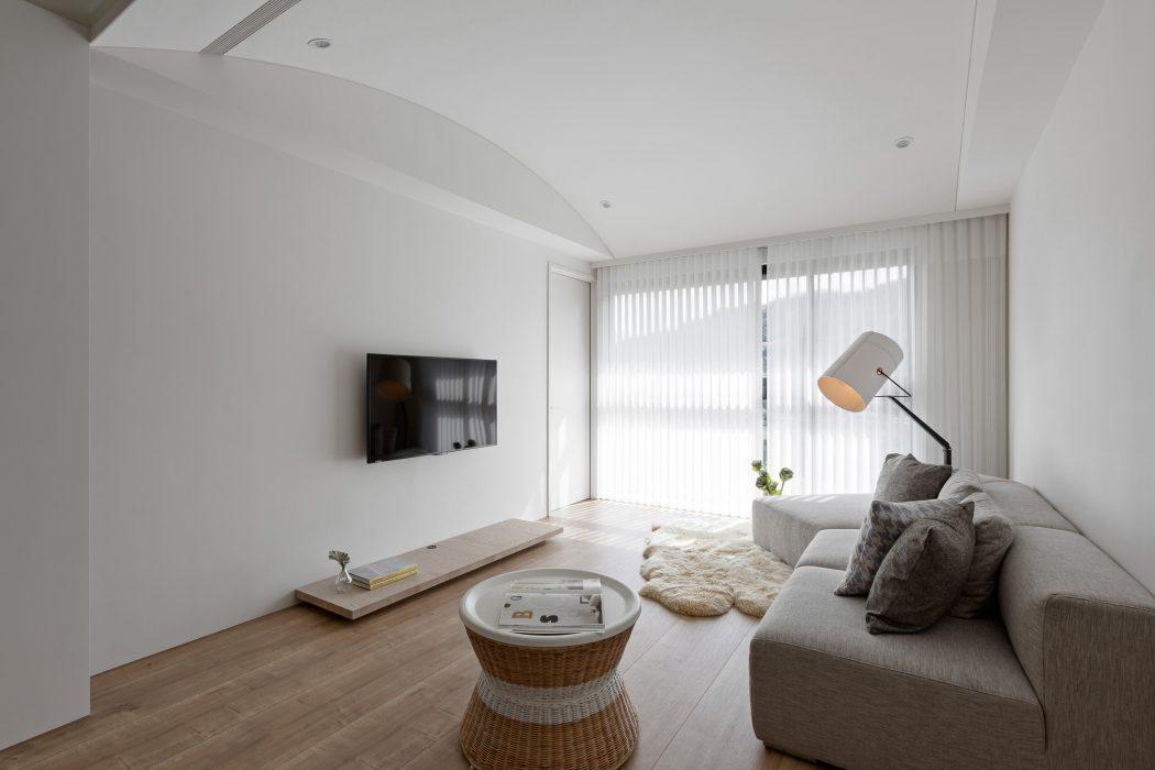 Klein thuiskantoortje in een modern appartement inrichting - Wandfarbe modern ...