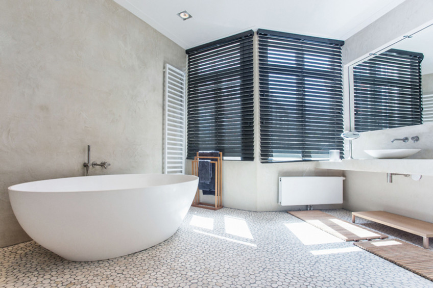 Budget Complete Badkamer ~ Moderne landelijke badkamer met natuurlijke materialen  Inrichting