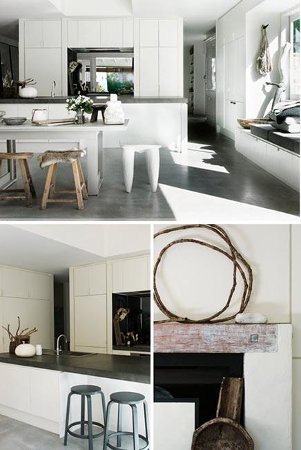 modern landelijke keuken van strandhuis  inrichtinghuis, Meubels Ideeën