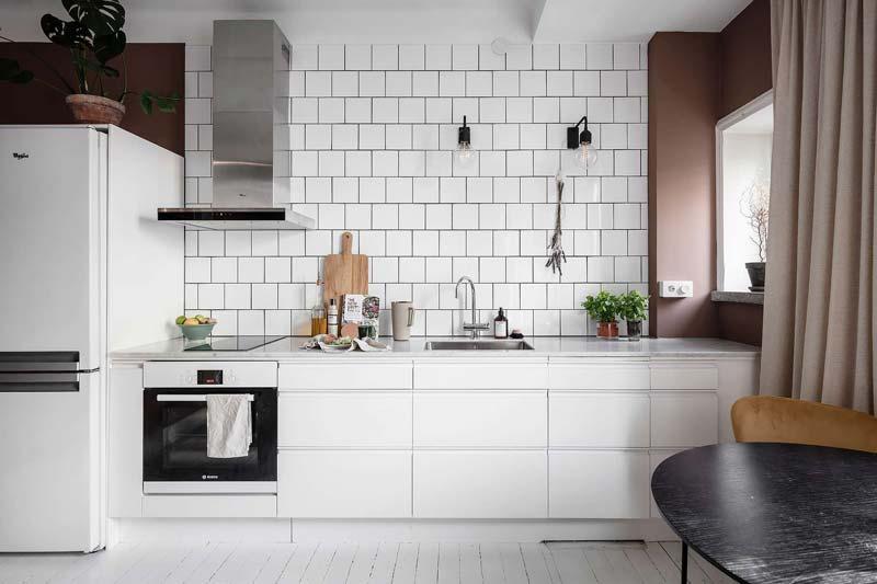 moderne open keuken appartement