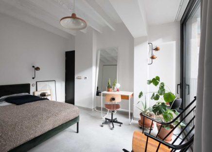 Moderne slaapkamer met vintage meubels  Inrichting-huis.com
