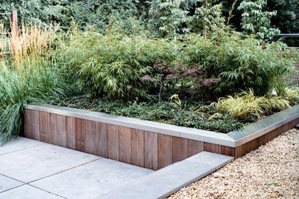 Moderne schlanken und attraktiven Garten