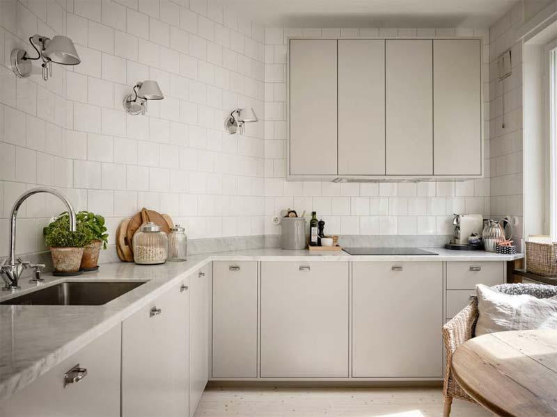 moderne taupe keuken