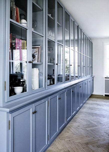 Moderne traditionele staalblauwe keuken inrichting - Traditionele keukens ...