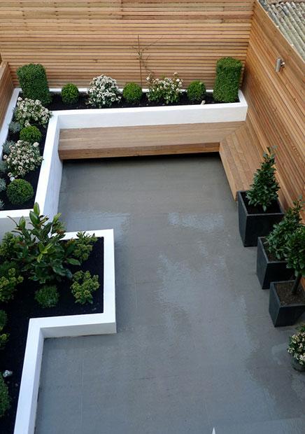 Moderne tuin uit londen inrichting - Te dekken moderne tuin ...