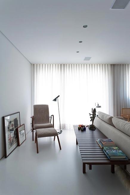 Moderne vintage woonkamer in curitiba inrichting for Moderne woonkamer